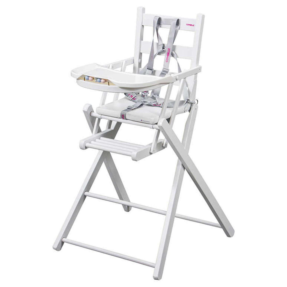 Chaise haute Chaise Haute Extra-Pliante Sarah - Blanc Chaise Haute Extra-Pliante Sarah - Blanc