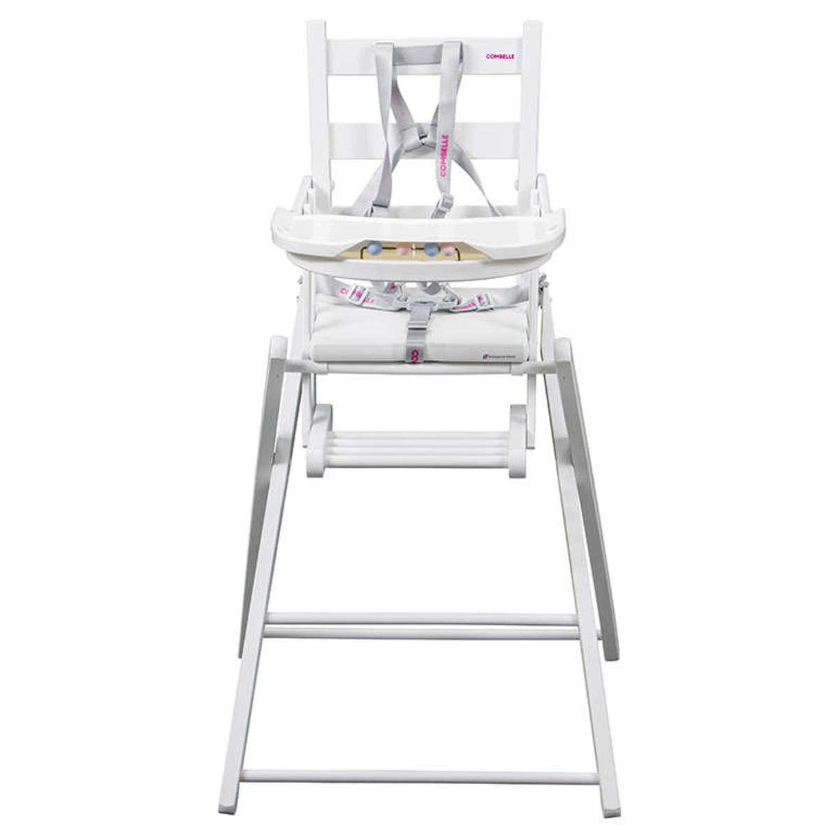 combelle chaise haute extra pliante sarah laqu blanc chaise haute combelle sur l 39 armoire de. Black Bedroom Furniture Sets. Home Design Ideas