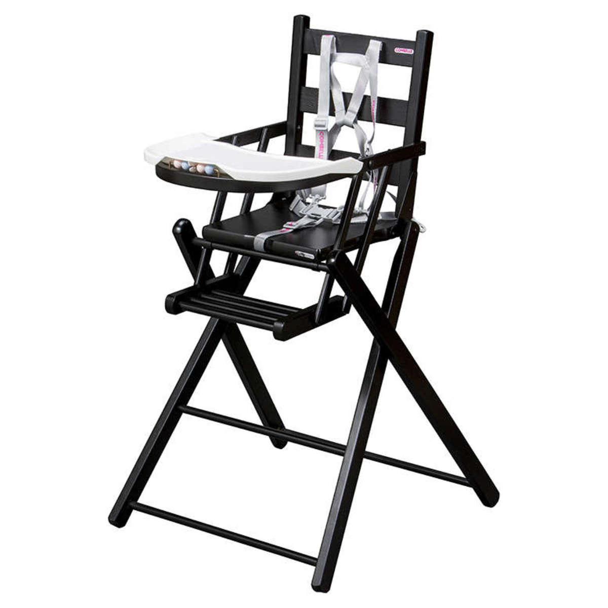 Chaise haute Chaise Haute Extra-Pliante Sarah - Noir Chaise Haute Extra-Pliante Sarah - Noir