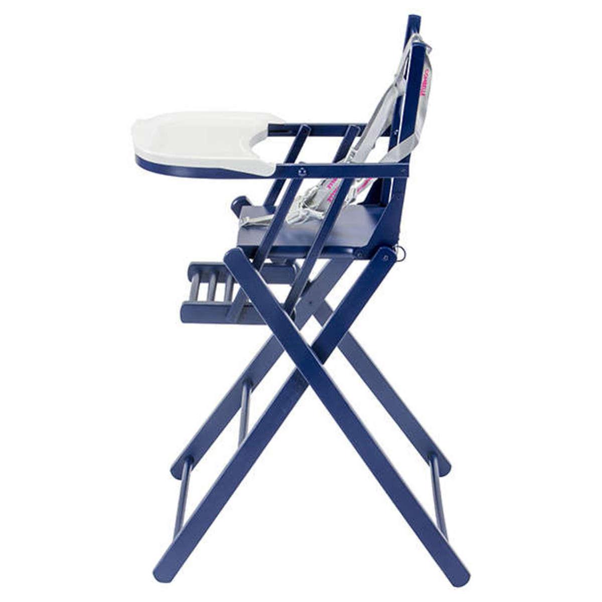 chaise haute pliante laqu 233 bleu 846c achat vente chaise haute sur