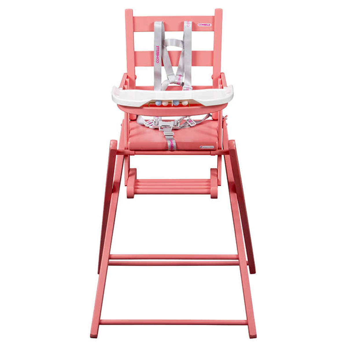 combelle chaise haute extra pliante sarah laqu rose chaise haute combelle sur l 39 armoire de b b. Black Bedroom Furniture Sets. Home Design Ideas