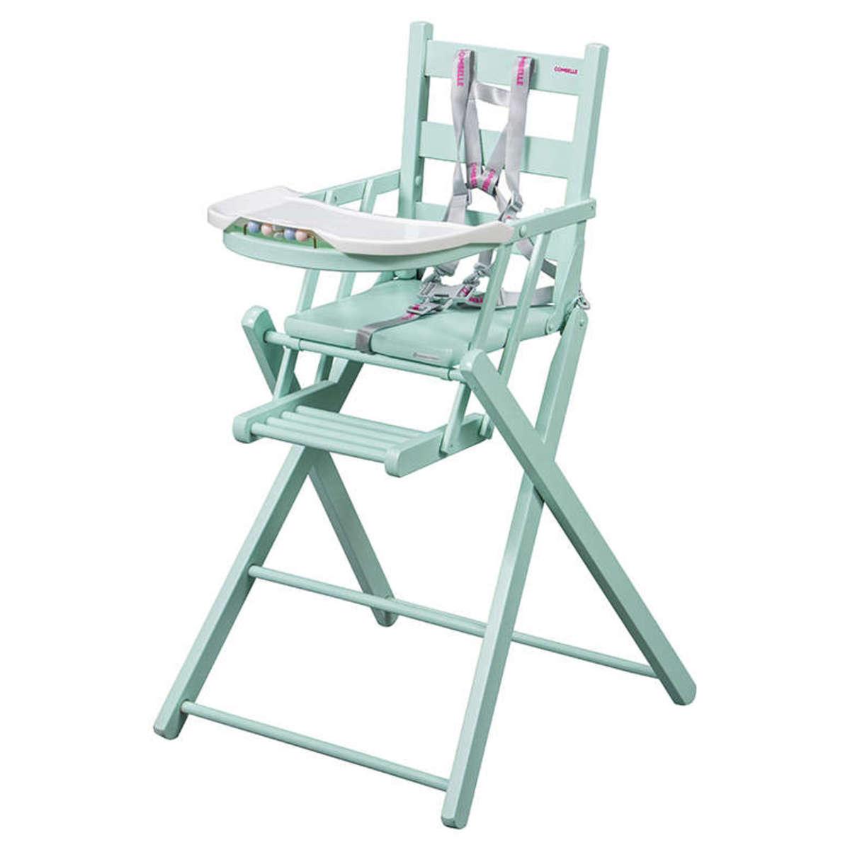Chaise haute Chaise Haute Extra-Pliante Sarah - Vert Menthe Chaise Haute Extra-Pliante Sarah - Vert Menthe