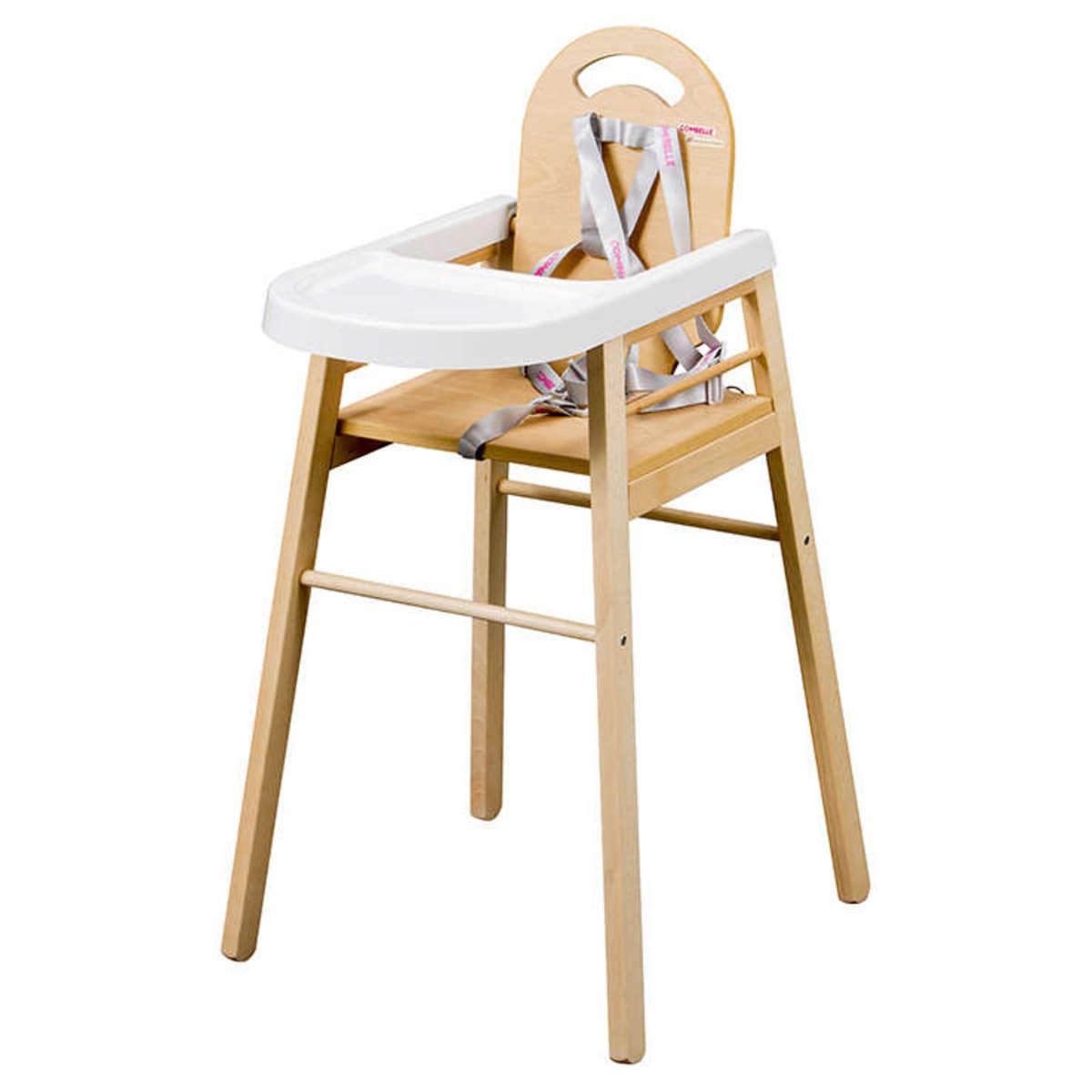 Chaise haute Chaise Haute Fixe Lili - Naturel Chaise Haute Fixe Lili - Naturel