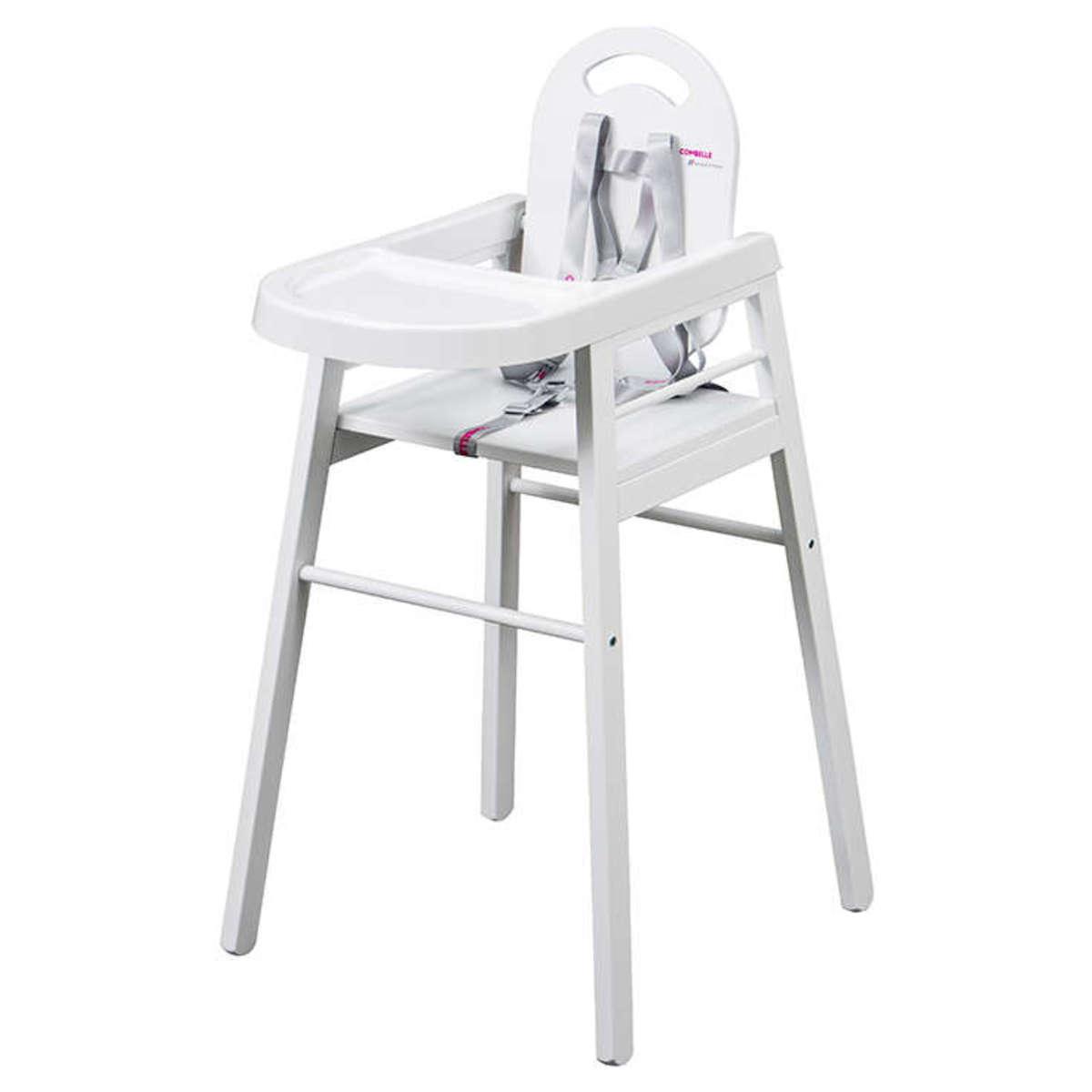 Chaise haute Chaise Haute Fixe Lili - Blanc Chaise Haute Fixe Lili - Blanc