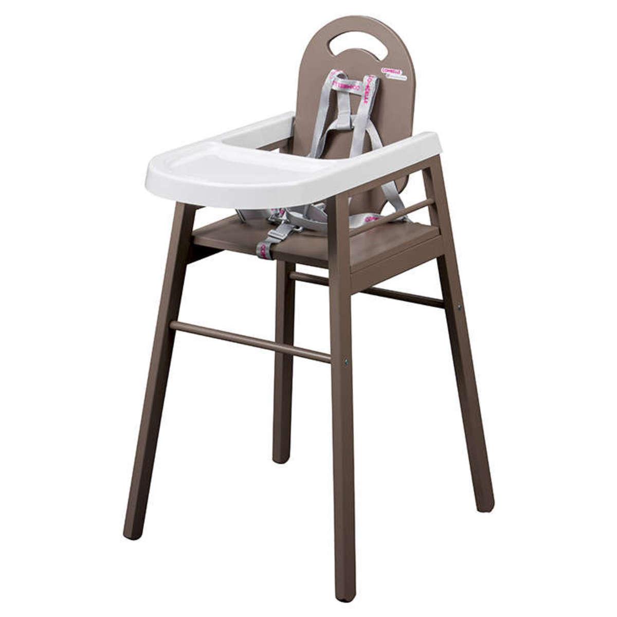 Chaise haute Chaise Haute Fixe Lili - Taupe Chaise Haute Fixe Lili - Taupe