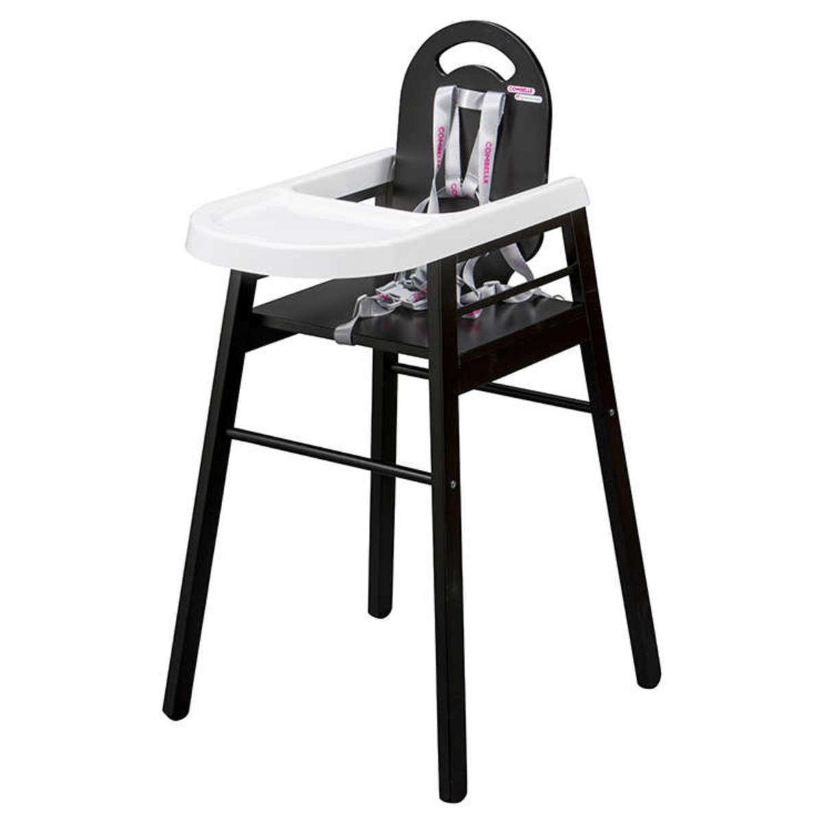 Chaise haute Chaise Haute Fixe Lili - Noir Chaise Haute Fixe Lili - Noir