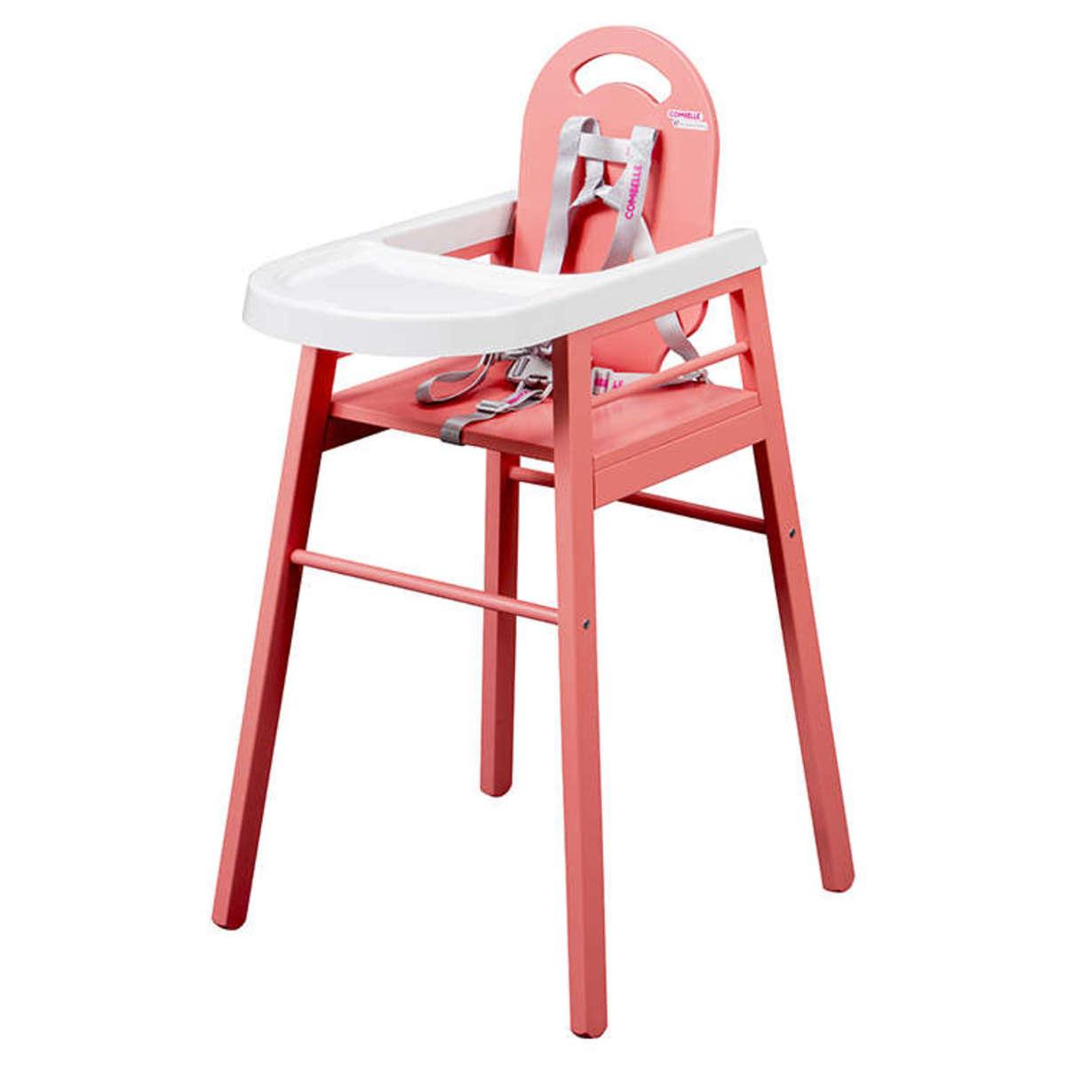Chaise haute Chaise Haute Fixe Lili - Rose Chaise Haute Fixe Lili - Rose