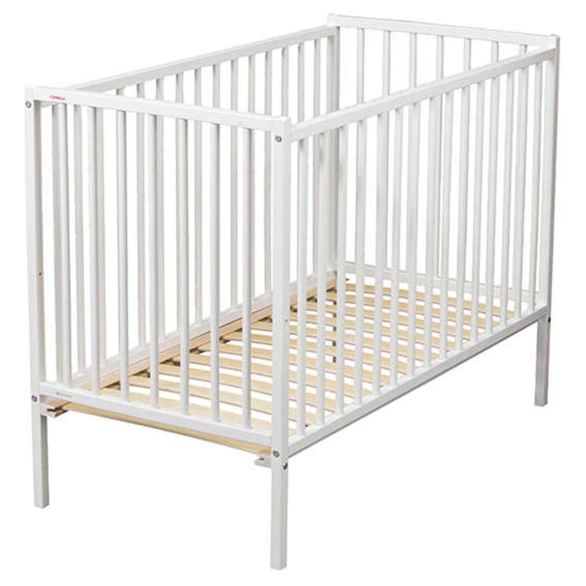 combelle lit b b r mi 70 x 140 cm laqu blanc lit b b combelle sur l 39 armoire de b b. Black Bedroom Furniture Sets. Home Design Ideas