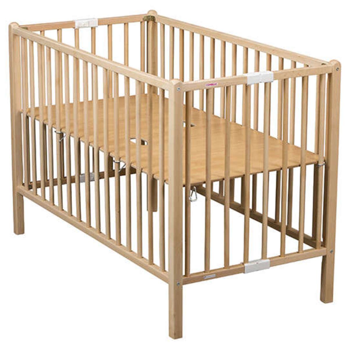 combelle lit b b pliant rom o 60 x 120 cm laqu noir lit b b combelle sur l 39 armoire de b b. Black Bedroom Furniture Sets. Home Design Ideas