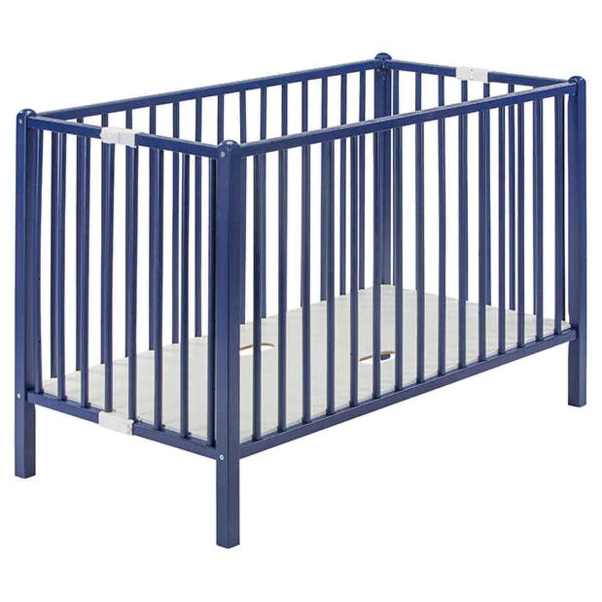 lit bb lit bb pliant romo 60 x 120 cm laqu bleu lit bb pliant - Lit Bebe Pliant