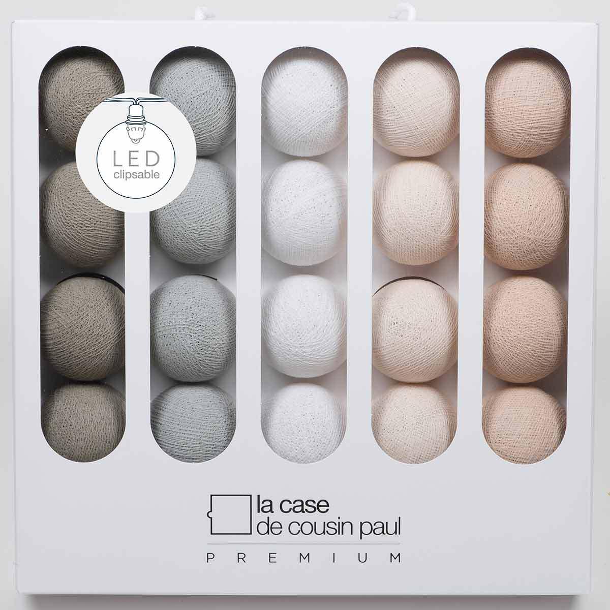 la case de cousin paul guirlande lumineuse patti led 20 boules suspension d corative la case. Black Bedroom Furniture Sets. Home Design Ideas