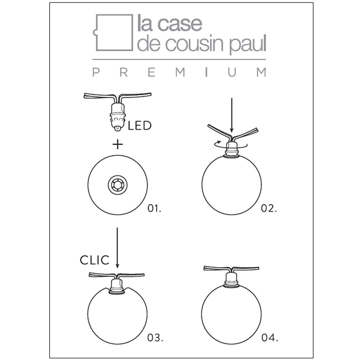la case de cousin paul guirlande lumineuse otis led 20 boules suspension d corative la case. Black Bedroom Furniture Sets. Home Design Ideas