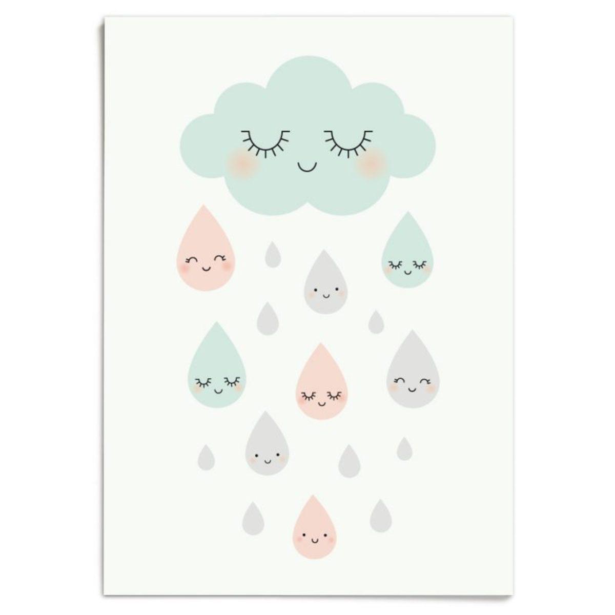 Affiche & poster Affiche Douce Pluie Affiche Douce Pluie