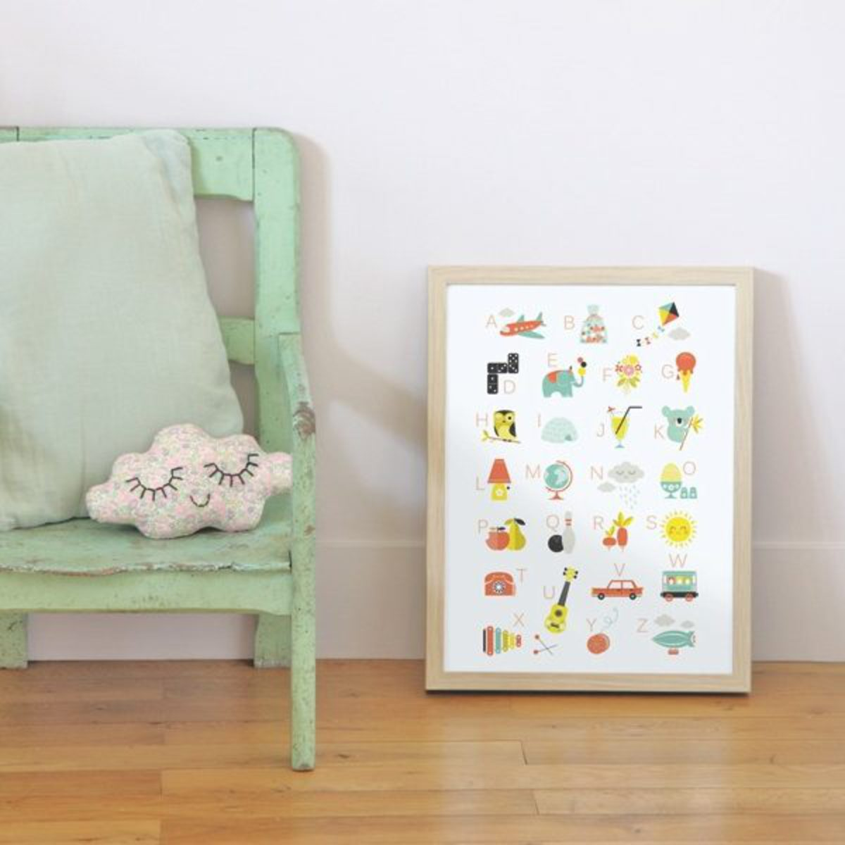 z affiche ab c daire affiche poster z sur l 39 armoire. Black Bedroom Furniture Sets. Home Design Ideas