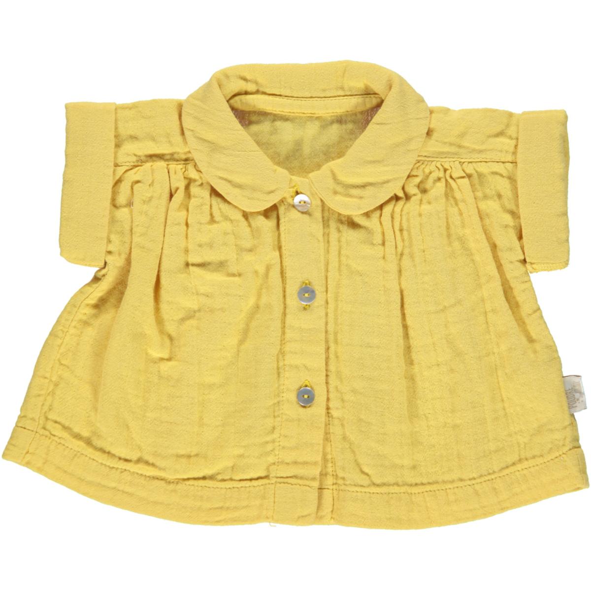 Hauts bébé Blouse MC Col Arrondi - Cream Gold - 3 mois Blouse MC Col Arrondi - Cream Gold - 3 mois