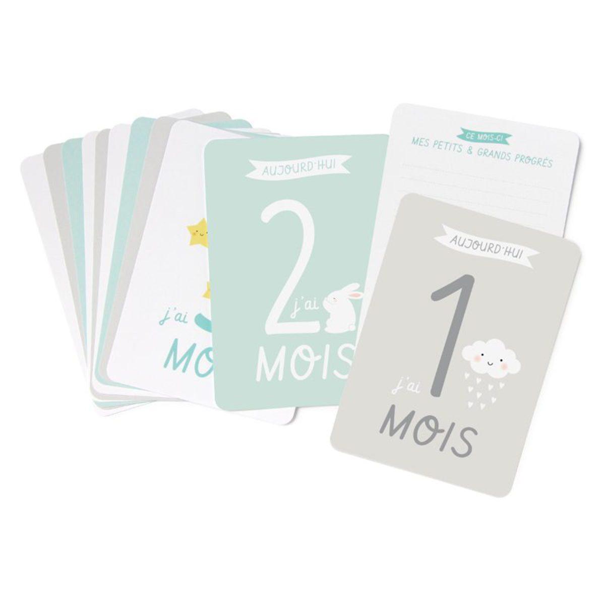 Livre & Carte Kit Cartes Premiers Mois de Bébé Kit Cartes Premiers Mois de Bébé