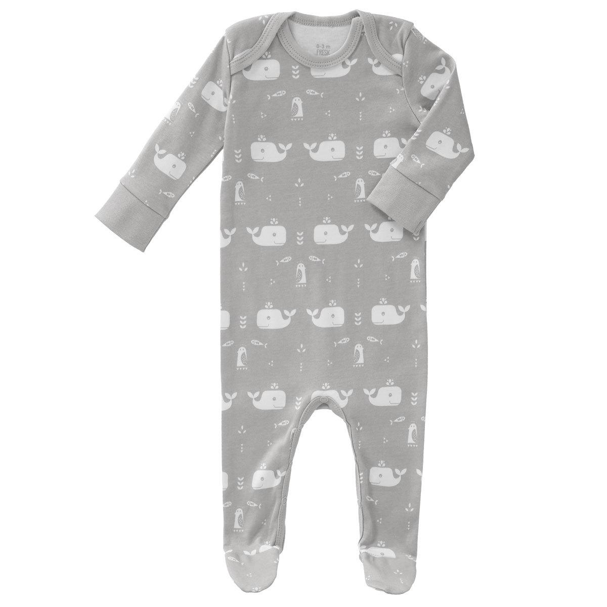 Body & Pyjama Pyjama avec Pied Baleine - Dawn Grey - 6 / 12 mois Pyjama avec Pied Baleine - Dawn Grey - 6 / 12 mois