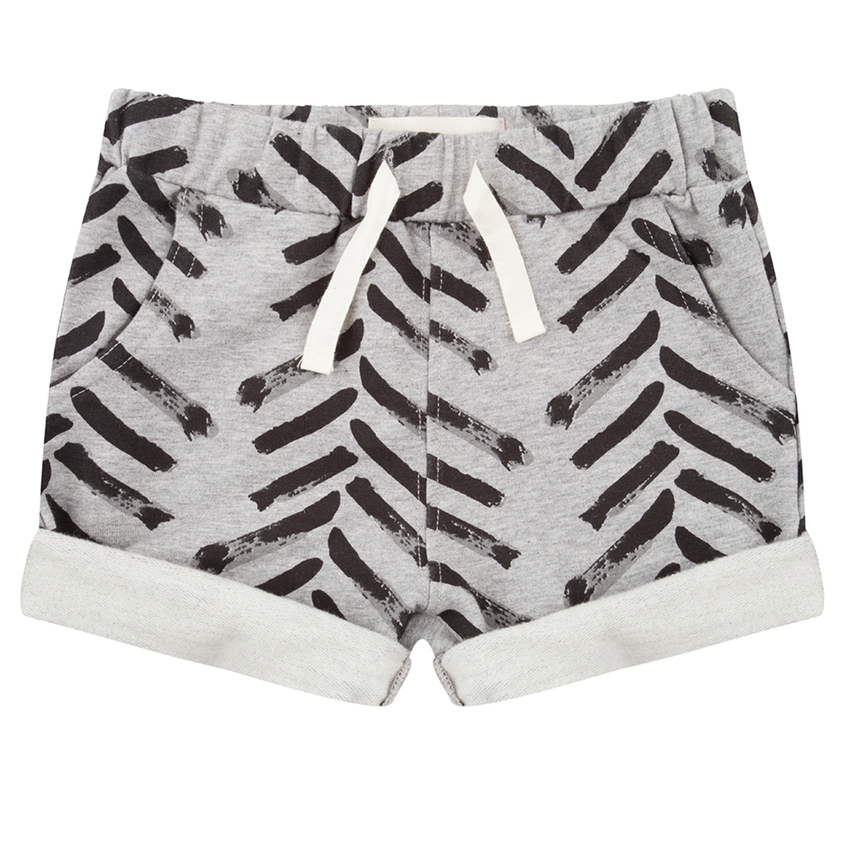 Bas Bébé Short à revers Arrow up gris - 6/9 mois Short à revers Arrow up gris - 6/9 mois
