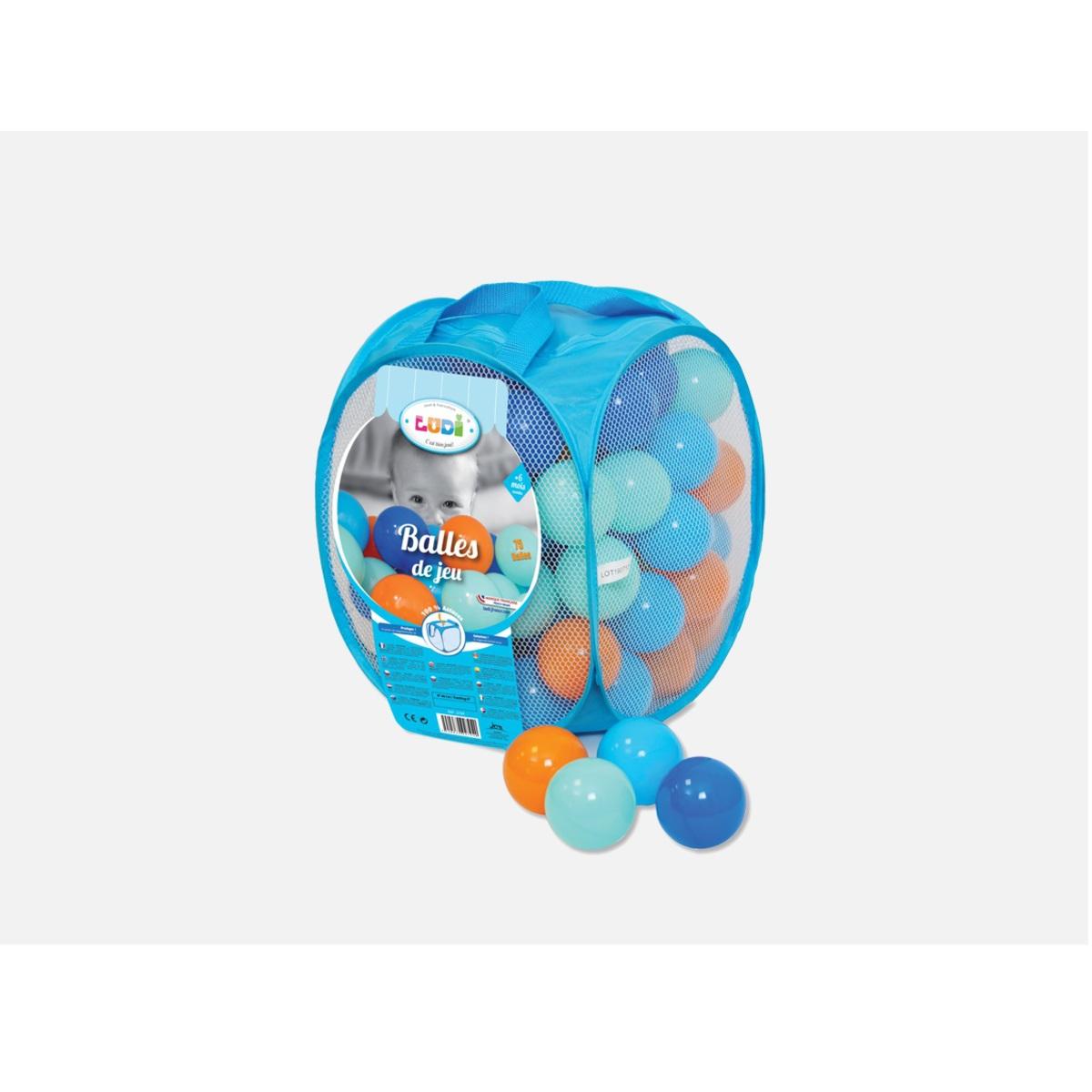 Ludi balles de jeu bleues 75 pi ces mes premiers jouets for Piscine a balles ludi