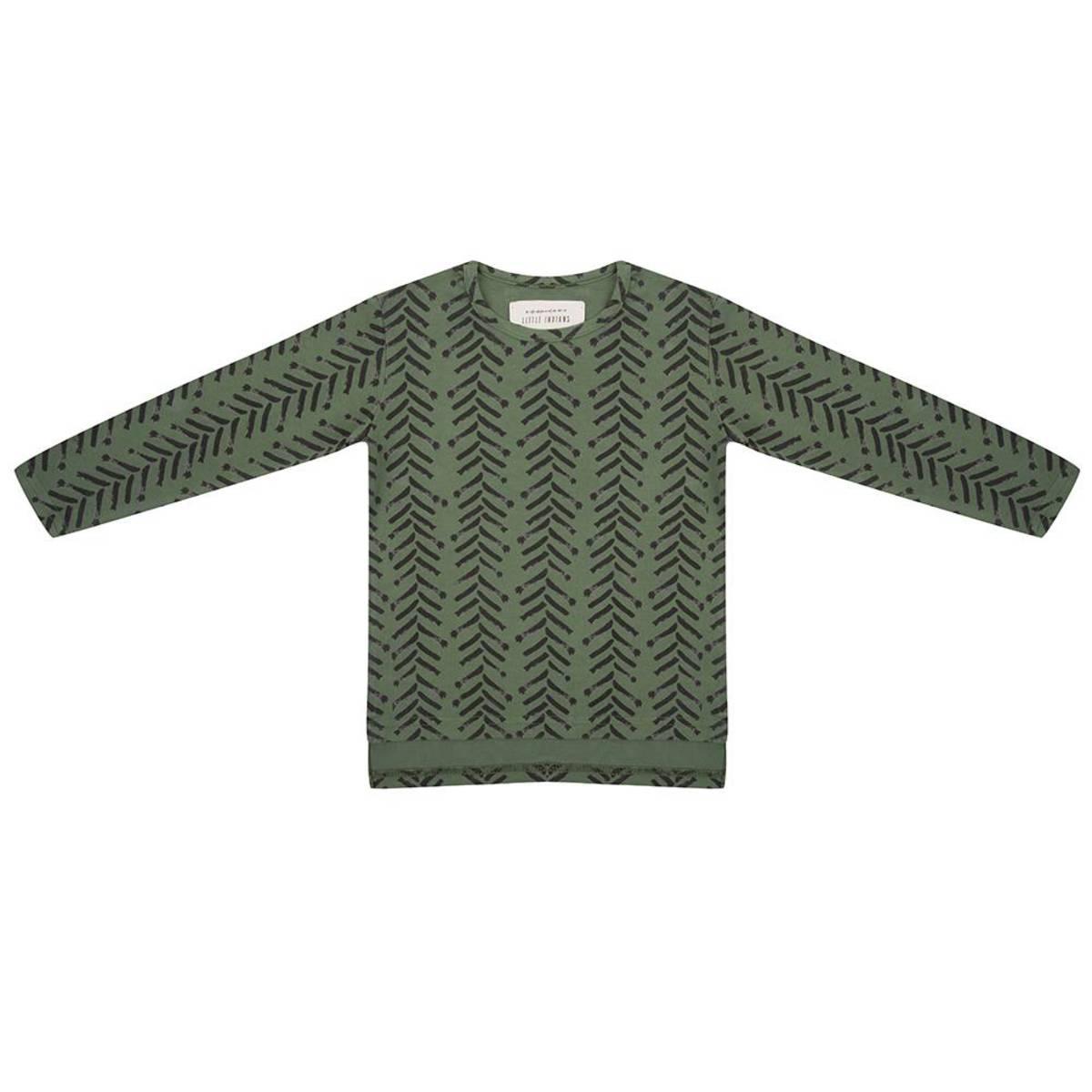 Hauts bébé Tee-Shirt manches longues Arrow up Kaki - 9/12 mois Tee-Shirt manches longues Arrow up Kaki - 9/12 mois