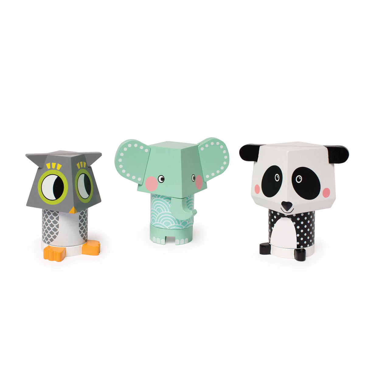 Mes premiers jouets Mix & Match - Panda, Chouette et Elephant Mix & Match - Panda, Chouette et Elephant