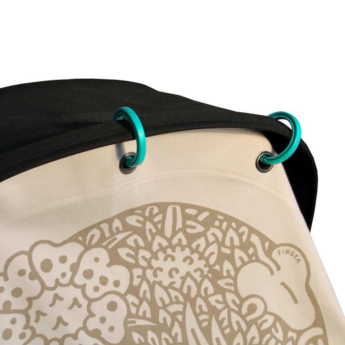 kurtis anneau pour rideau poussette bleu pastel ombrelle et protection kurtis sur l 39 armoire. Black Bedroom Furniture Sets. Home Design Ideas