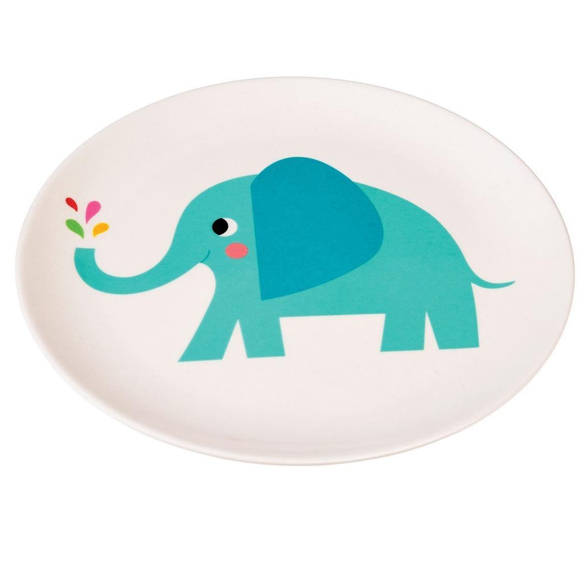 Vaisselle & Couvert Assiette en Mélamine Elvis The Elephant Assiette en Mélamine Elvis The Elephant
