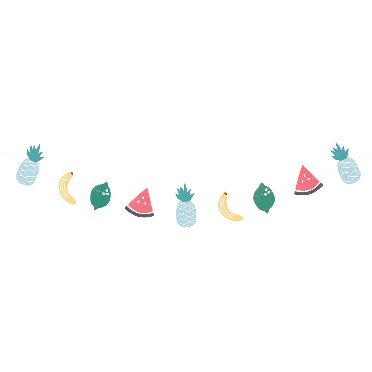 Anniversaire & Fête Guirlande Papier - Fruits Exotiques Guirlande Papier - Fruits Exotiques