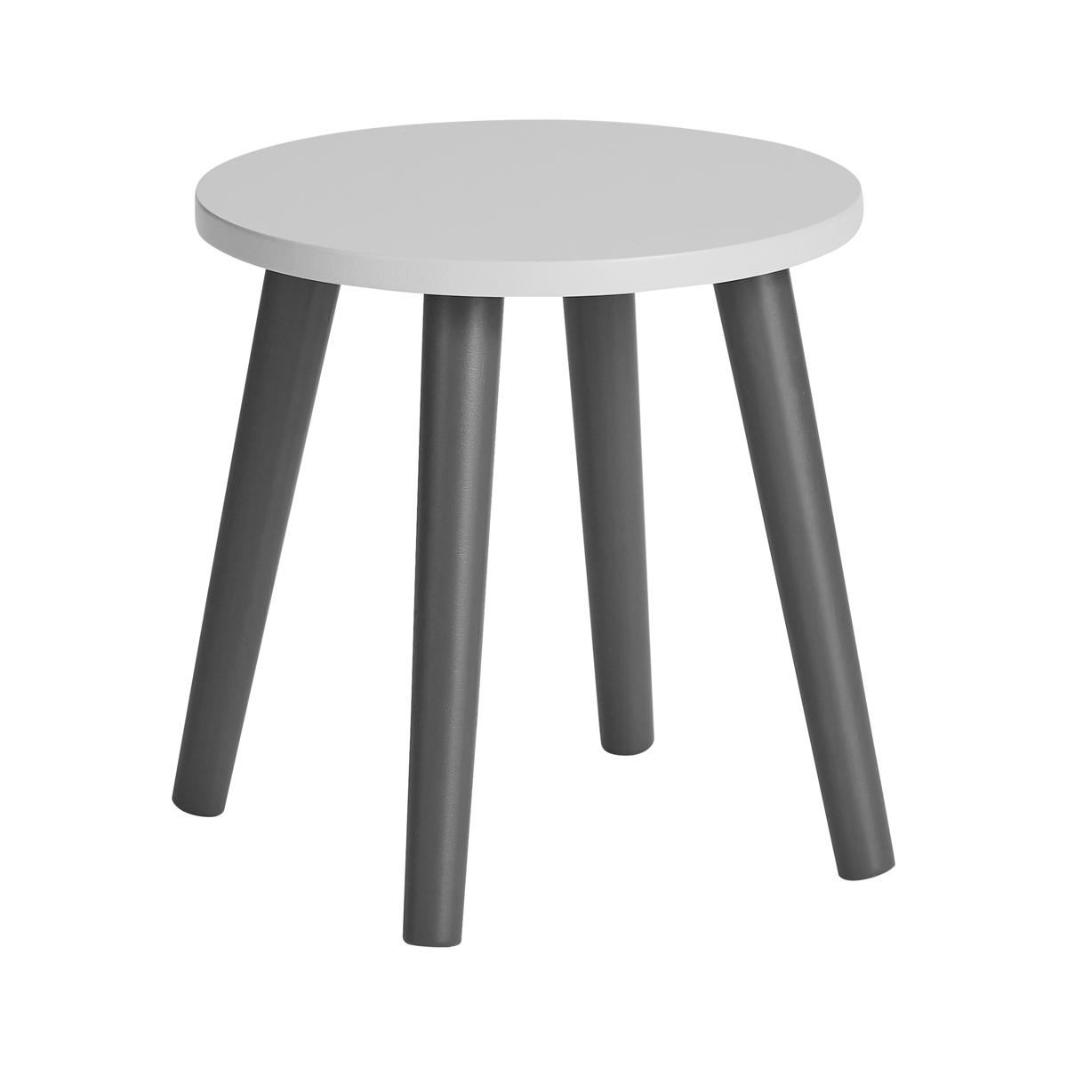 Table & Chaise Tabouret Enfant - Gris Clair / Gris Foncé