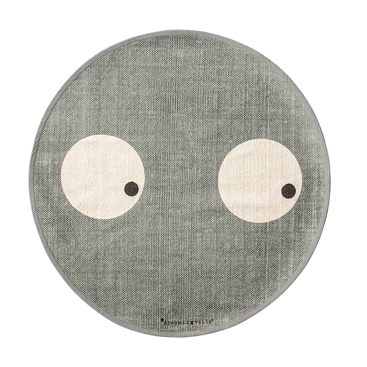 bloomingville tapis rond yeux gris tapis bloomingville sur l 39 armoire de b b. Black Bedroom Furniture Sets. Home Design Ideas
