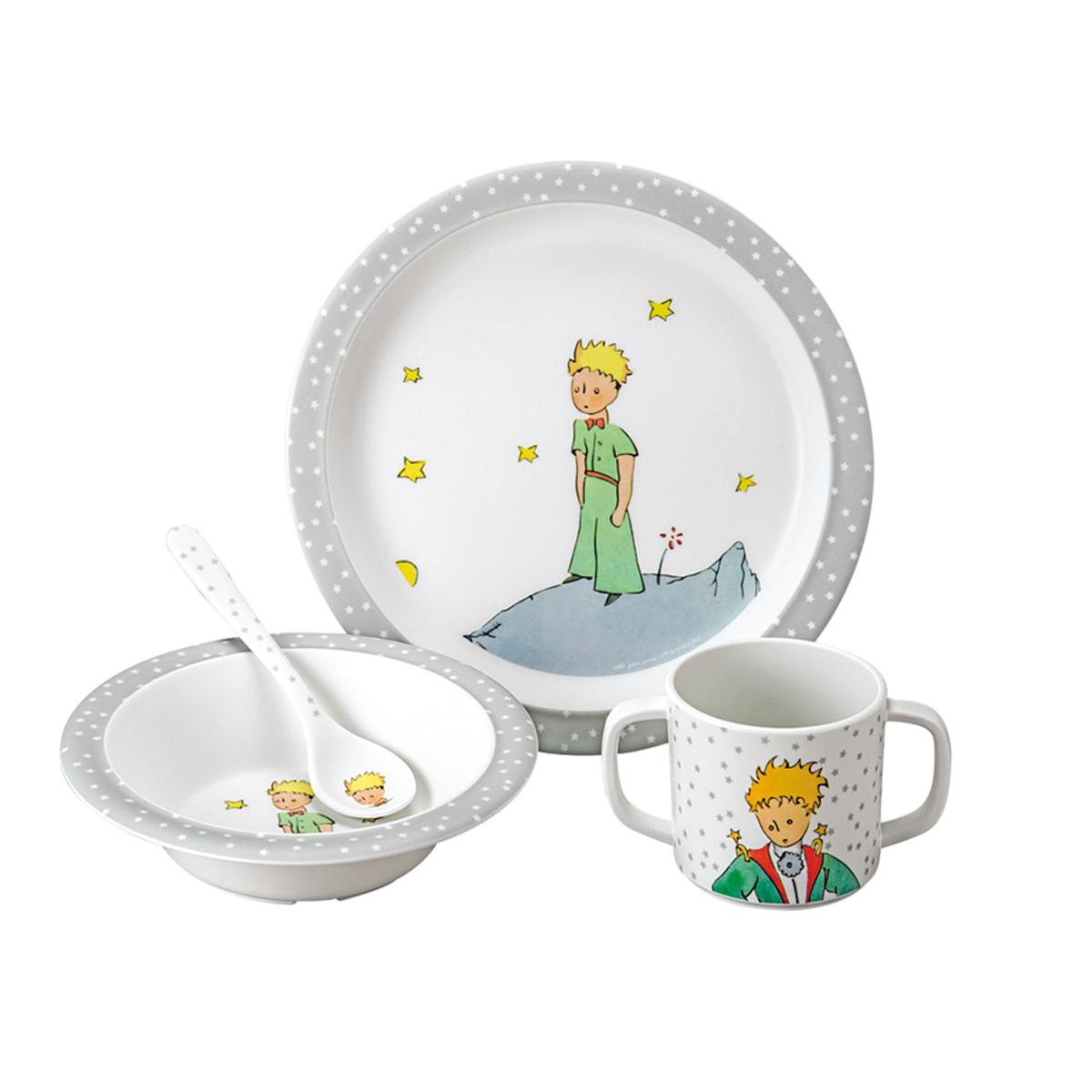 """Coffret repas Coffret Cadeau 4 Pièces """"Le Petit Prince"""" - Gris Coffret Cadeau 4 Pièces """"Le Petit Prince"""" - Gris"""