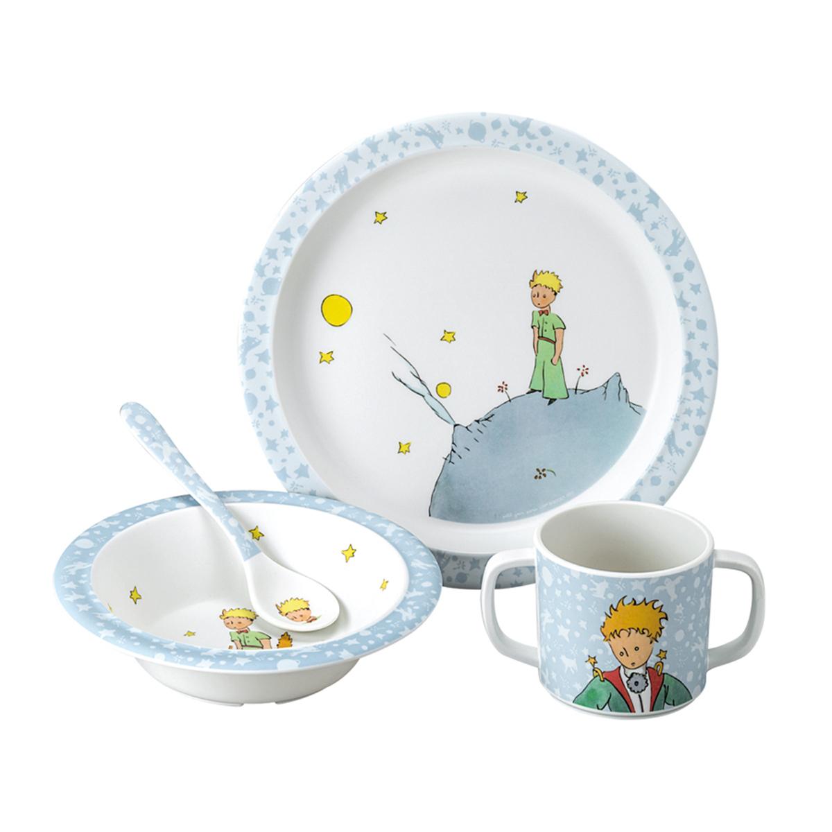 petit jour coffret cadeau 4 pi ces le petit prince bleu coffret repas petit jour sur l. Black Bedroom Furniture Sets. Home Design Ideas