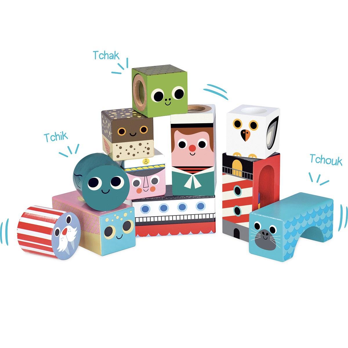 Mes premiers jouets Cubes sonores de la Mer par Ingela P. Arrhenius Cubes sonores de la Mer par Ingela P. Arrhenius
