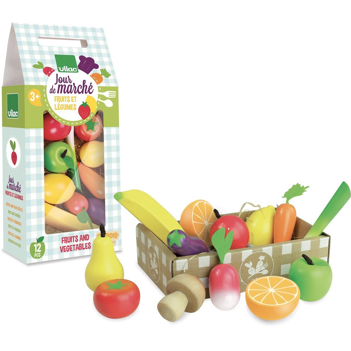 Mes premiers jouets Jour de Marché Set fruits et légumes Jour de Marché Set fruits et légumes