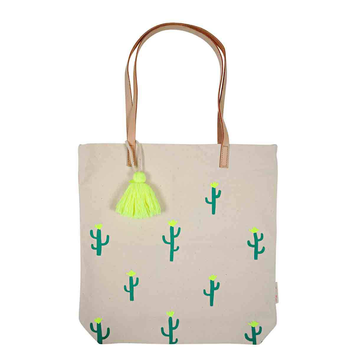 meri meri tote bag cactus bagagerie enfant meri meri sur l 39 armoire de b b. Black Bedroom Furniture Sets. Home Design Ideas