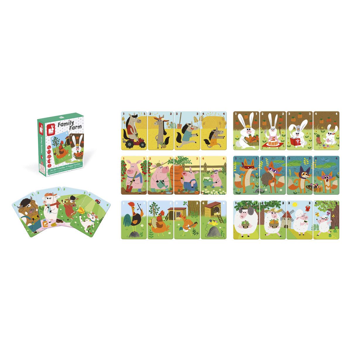 Mes premiers jouets Jeu de 7 Familles - Family Farm Jeu de 7 Familles - Family Farm