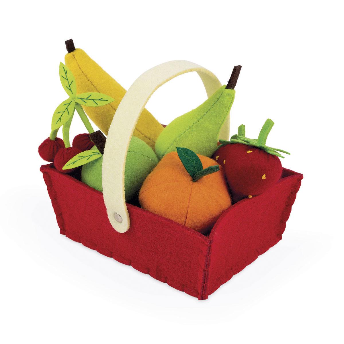 Mes premiers jouets Panier de 8 Fruits en Tissu Panier de 8 Fruits en Tissu