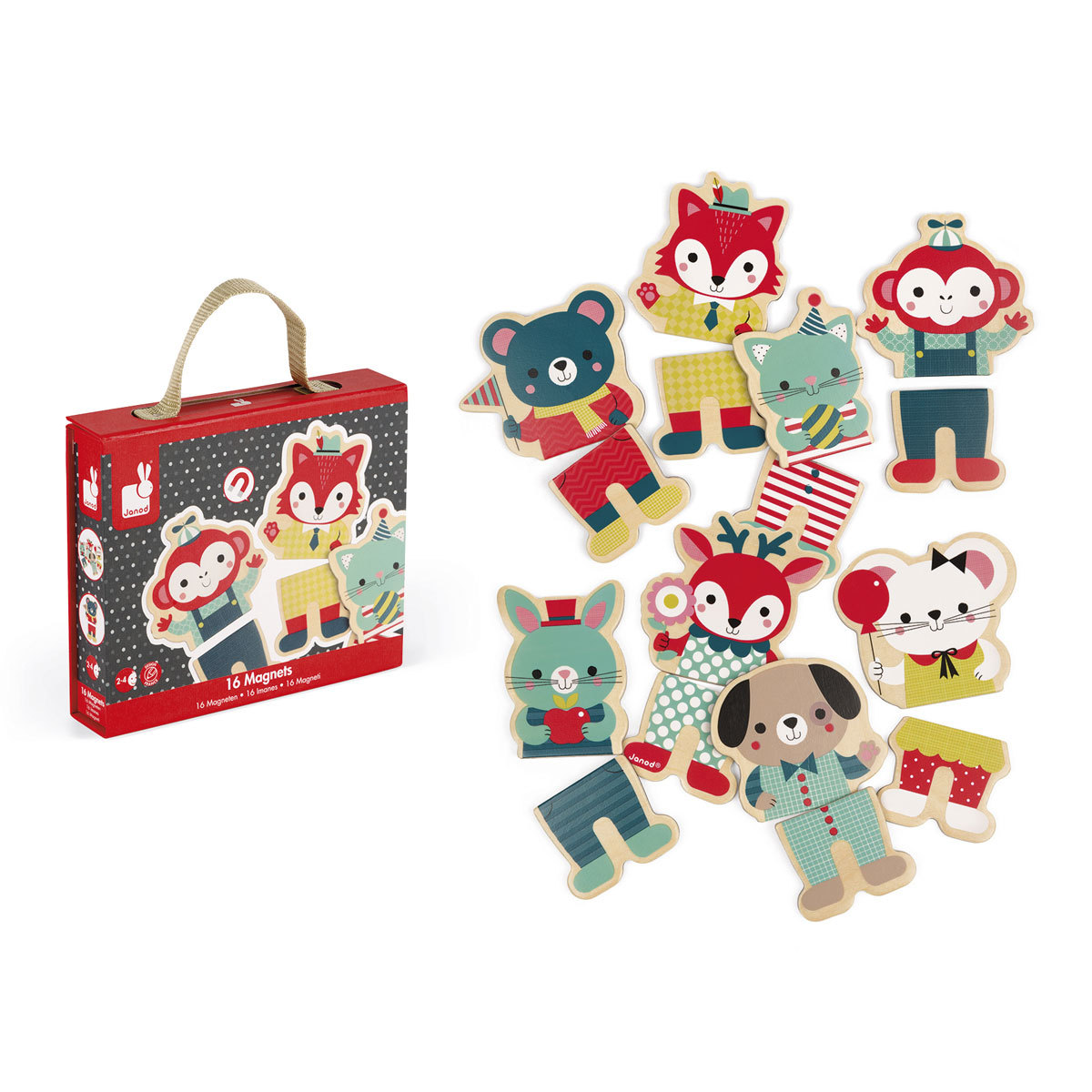 Mes premiers jouets Baby Forest - 16 Magnets Baby Forest - 16 Magnets