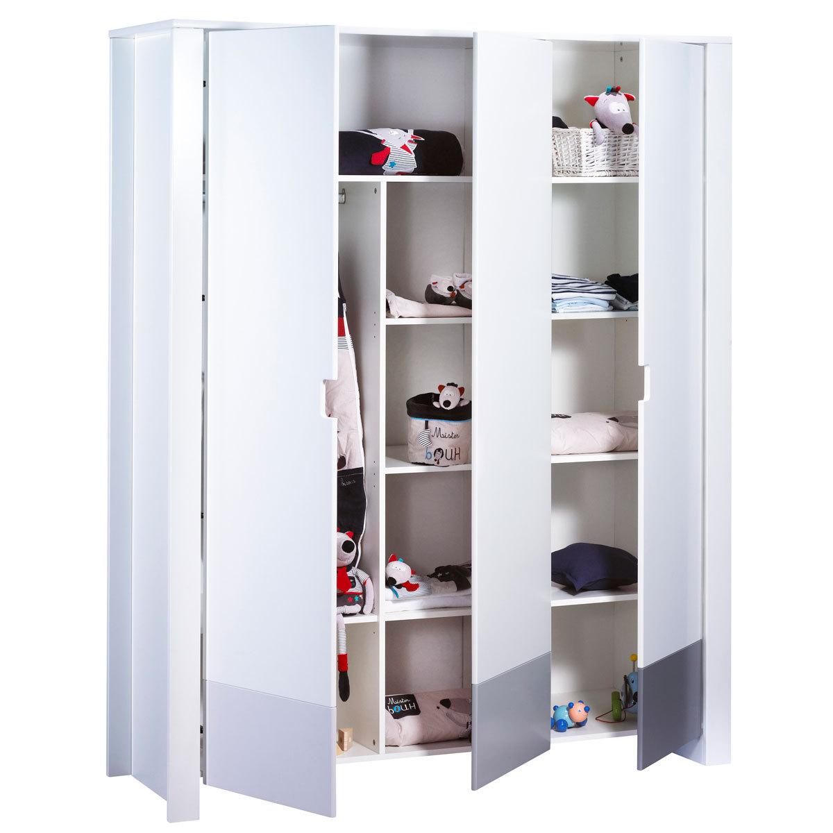 Sauthon armoire 3 portes city gris armoire sauthon sur - L armoire de bebe ...