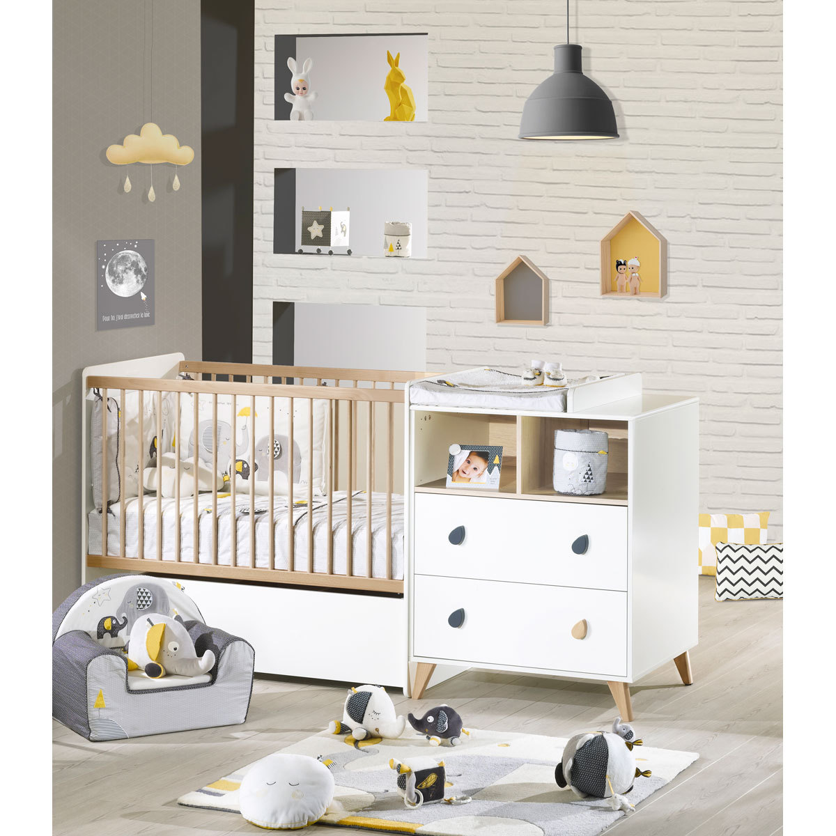 Sauthon lit combin evolutif oslo lit b b sauthon sur l - L armoire de bebe ...