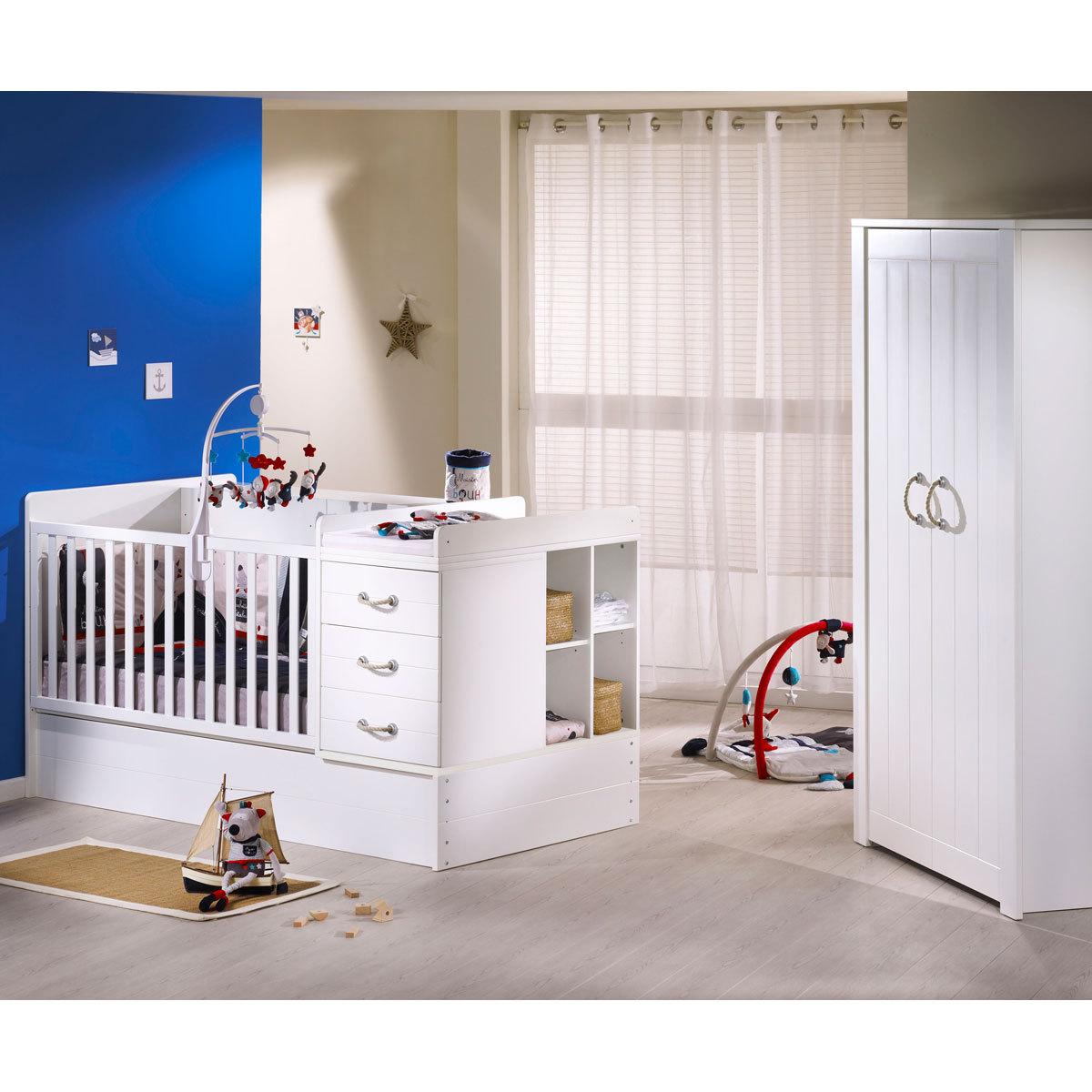 sauthon lit combin evolutif seaside lit b b sauthon. Black Bedroom Furniture Sets. Home Design Ideas