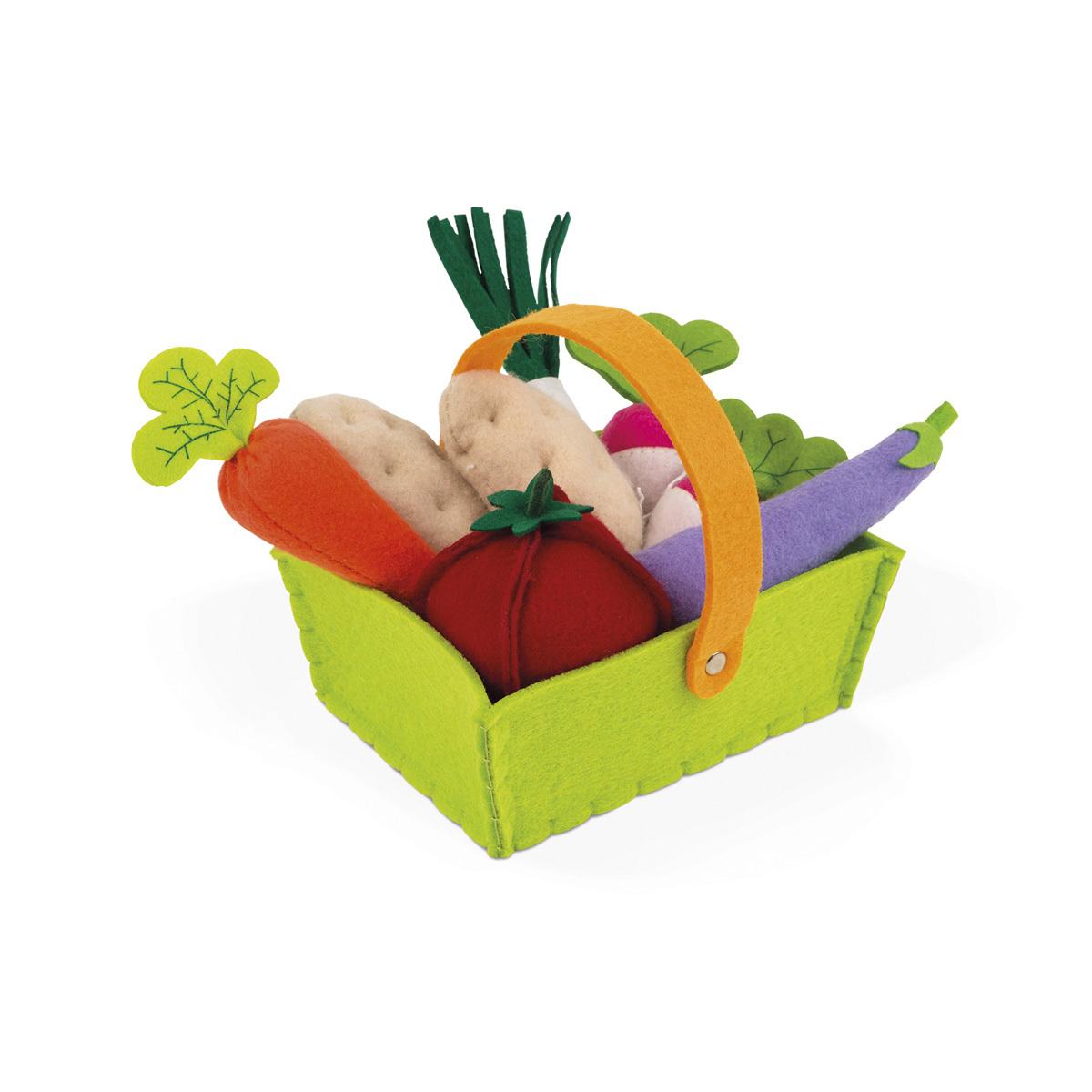Mes premiers jouets Panier de 8 Légumes en Tissu Panier de 8 Légumes en Tissu