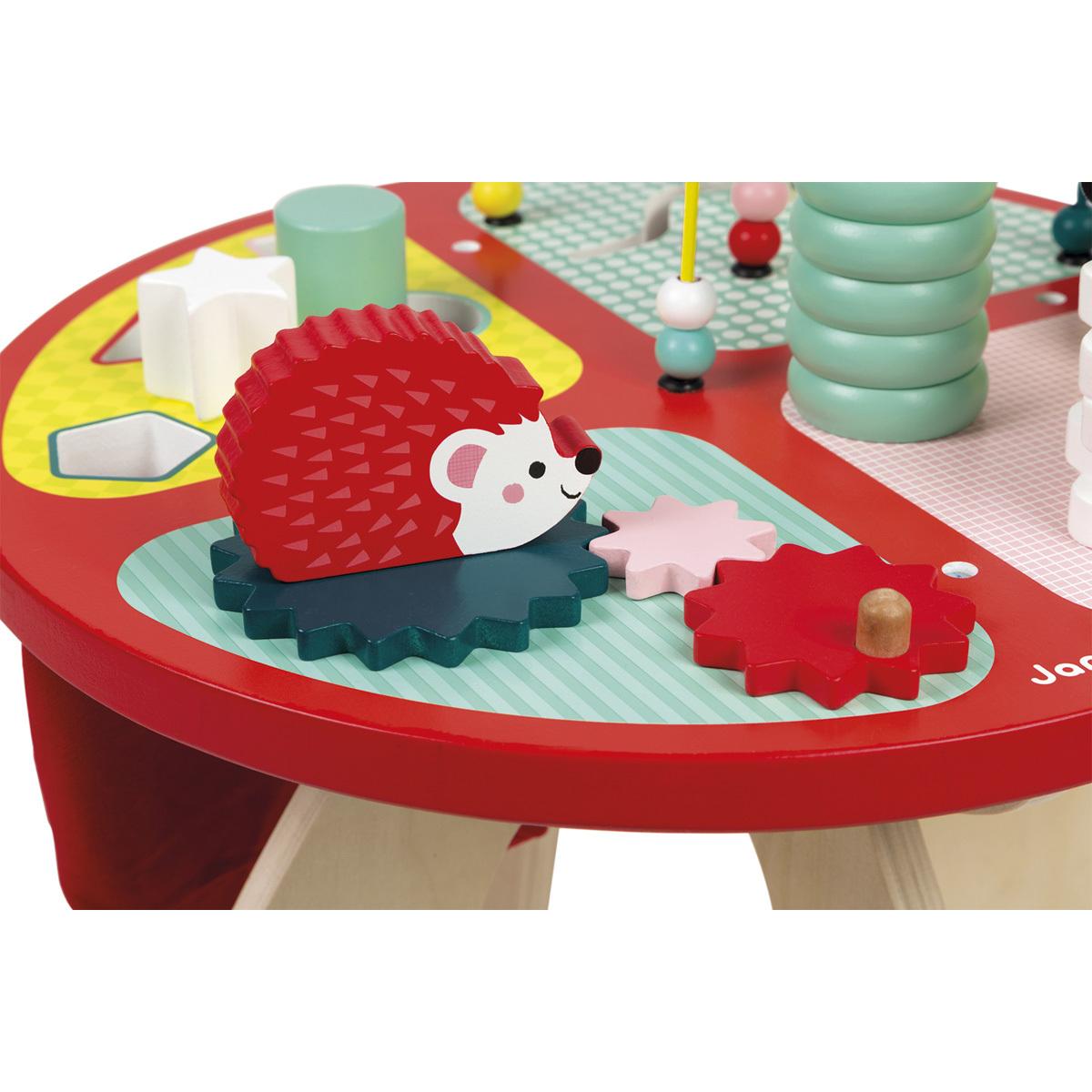 janod table d 39 activit s baby forest mes premiers jouets janod sur l 39 armoire de b b. Black Bedroom Furniture Sets. Home Design Ideas