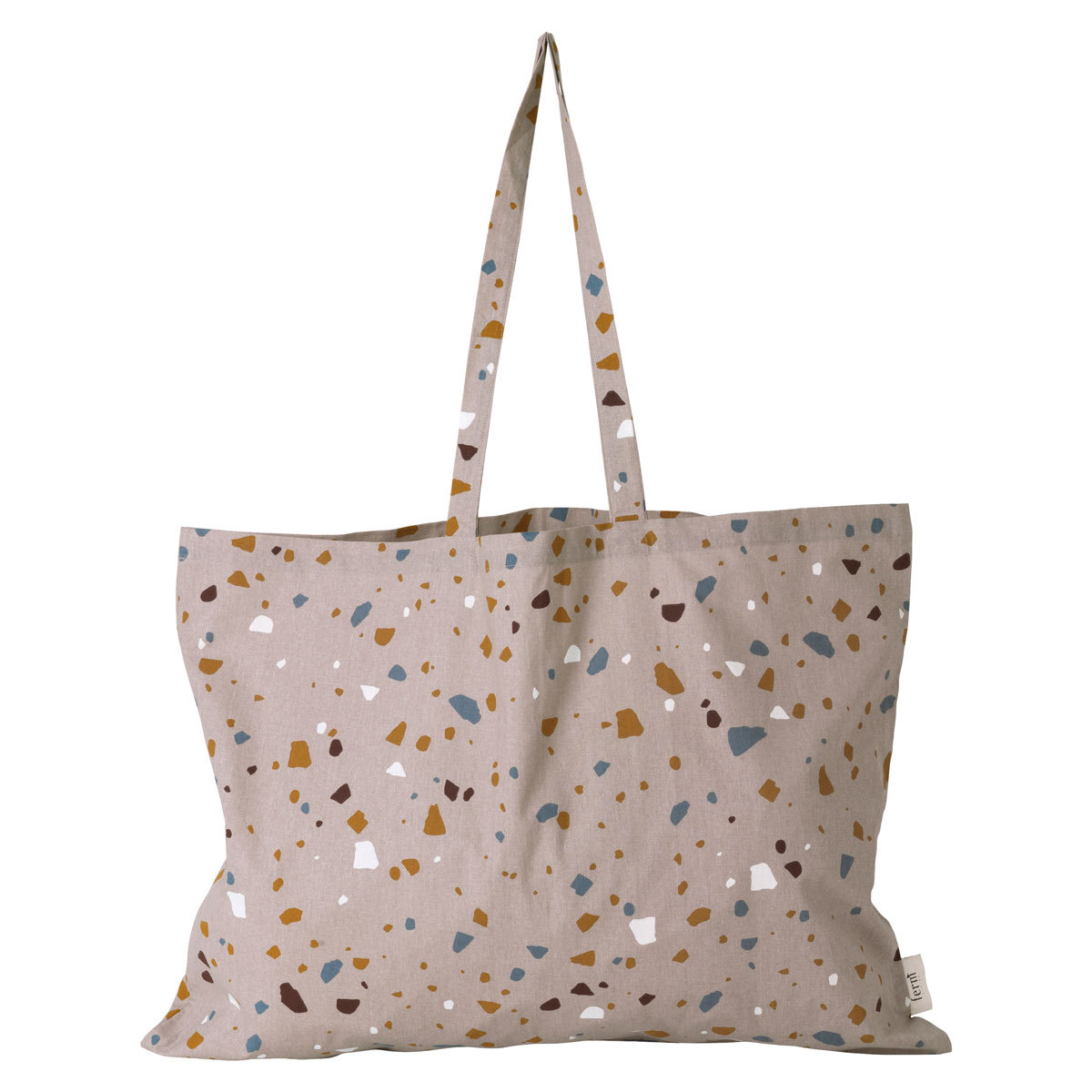 ferm living tote bag terrazzo rose xl bagagerie enfant ferm living sur l 39 armoire de b b. Black Bedroom Furniture Sets. Home Design Ideas