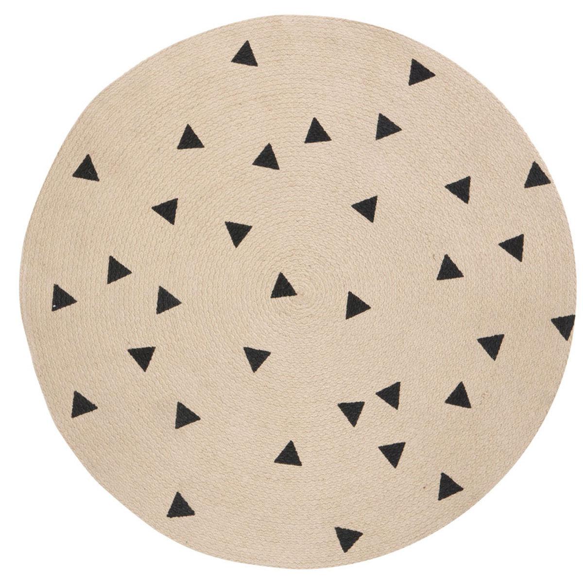 Ferm Living Tapis Rond Petit Mod Le Triangle Noir