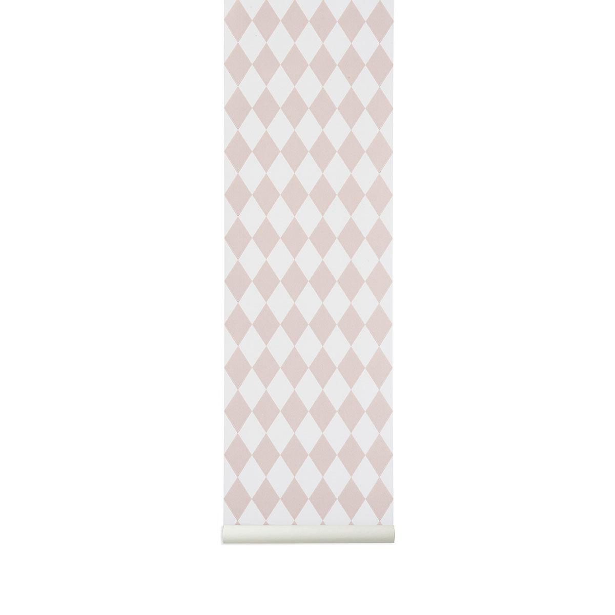 Papier peint Papier Peint Arlequin - Rose Papier Peint Arlequin - Rose