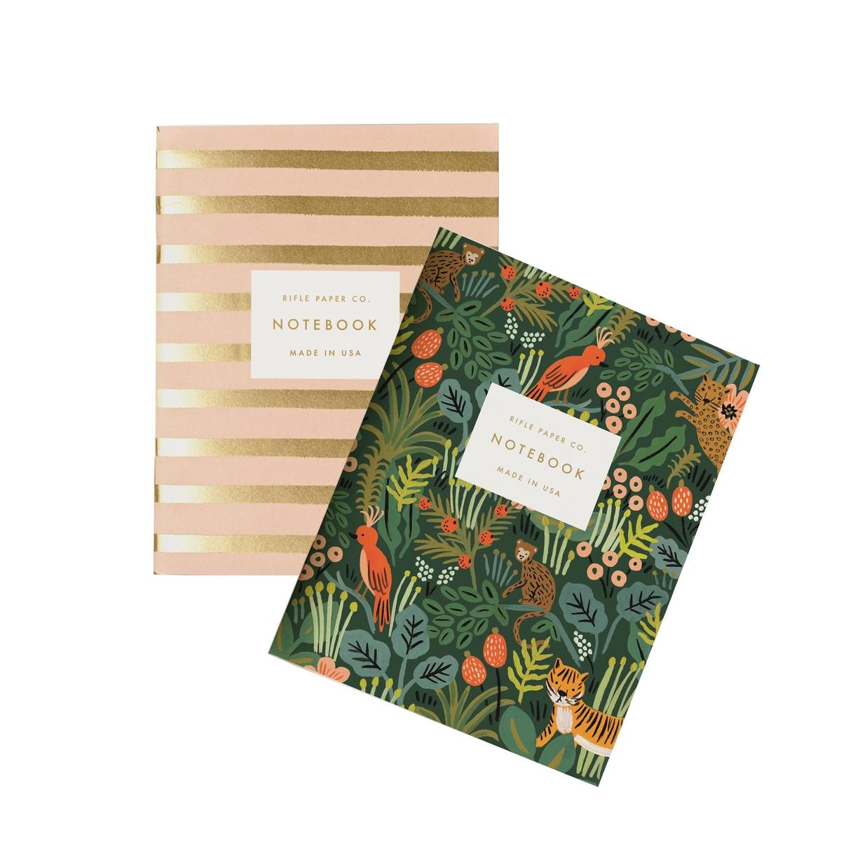 "Livre & Carte Set de 2 Carnets ""Jungle"" - 10.5 x 14 cm Set de 2 Carnets ""Jungle"" - 10.5 x 14 cm"