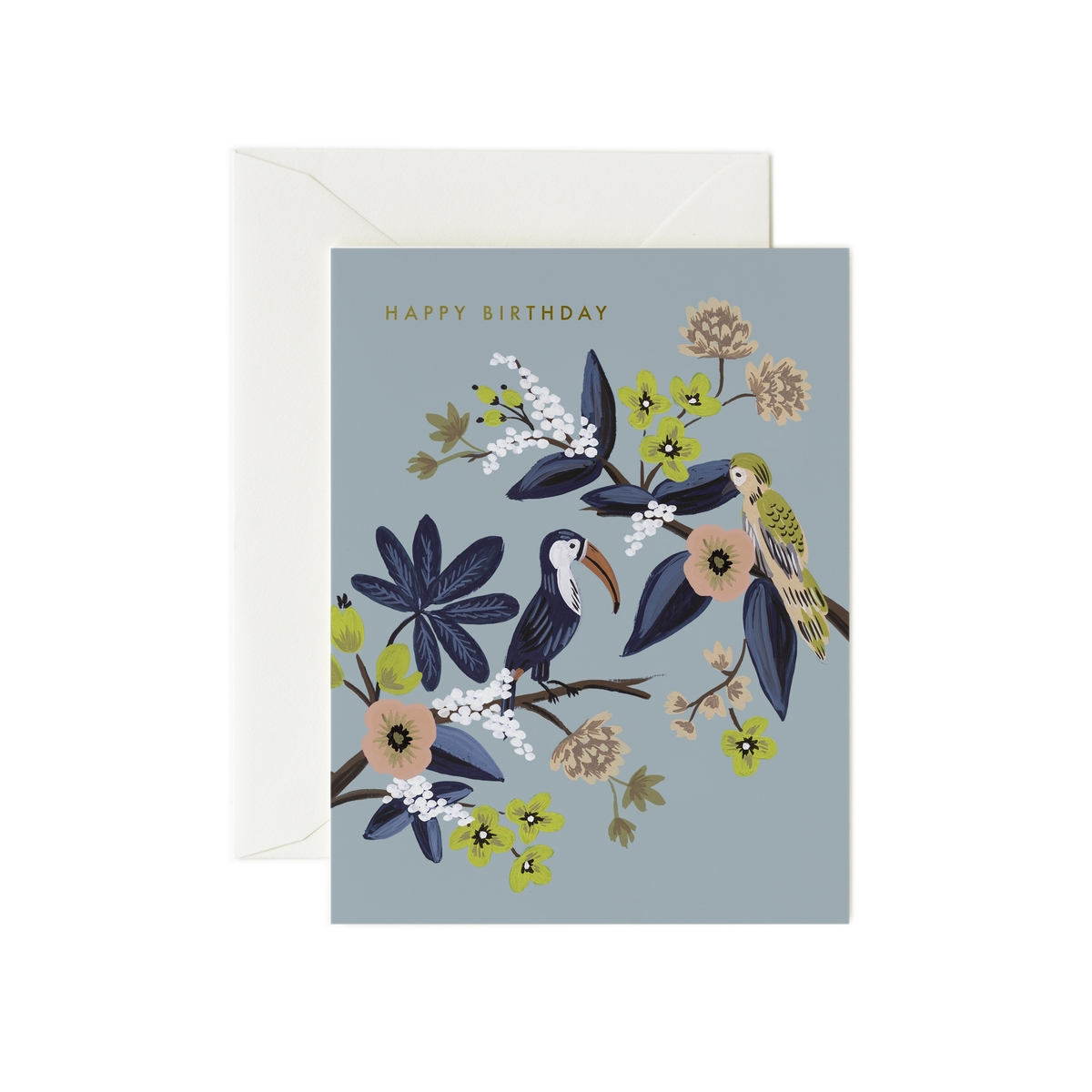 "Anniversaire & Fête Carte Double & Enveloppe Toucan ""Happy Birthday"" Carte Double & Enveloppe Toucan ""Happy Birthday"""