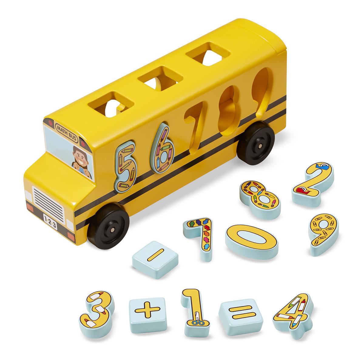melissa doug bus scolaire des nombres mes premiers jouets melissa doug sur l 39 armoire de b b. Black Bedroom Furniture Sets. Home Design Ideas
