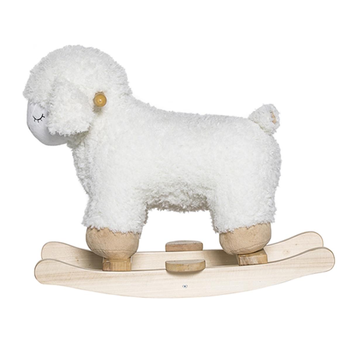 bloomingville mouton bascule blanc trotteur. Black Bedroom Furniture Sets. Home Design Ideas
